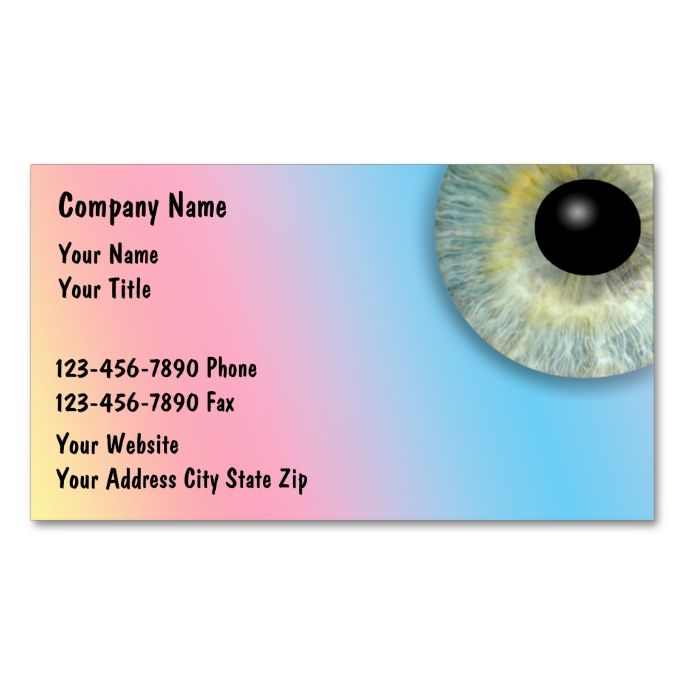 Optical Business Cards Make your own business card with this - business card template for doctors