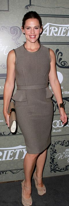 Who made Jennifer Garner's peplum dress that she wore in Beverly Hills on October 5, 2012? Dress – Givenchy
