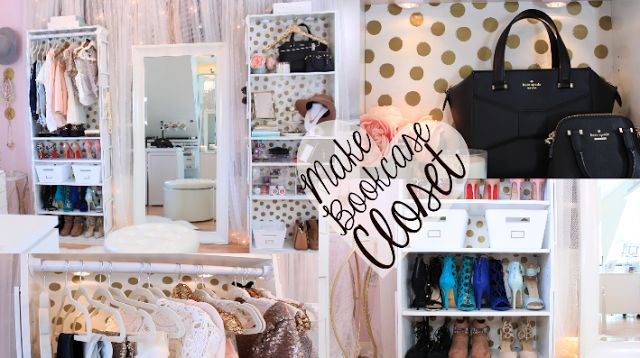 Dose of Lisa Pullano: Make Your Own Bookcase Closet & Sequin Hanger