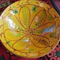 AB7  Afghan Saffron flower bowl  $165