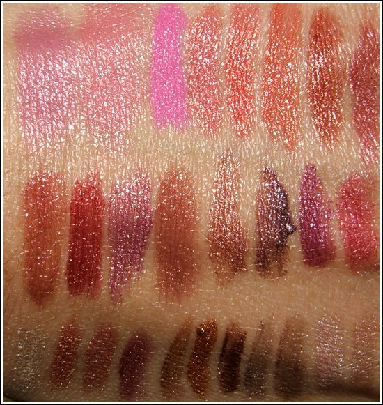 MAC Cosmetics Lipstick Swatches on Skin