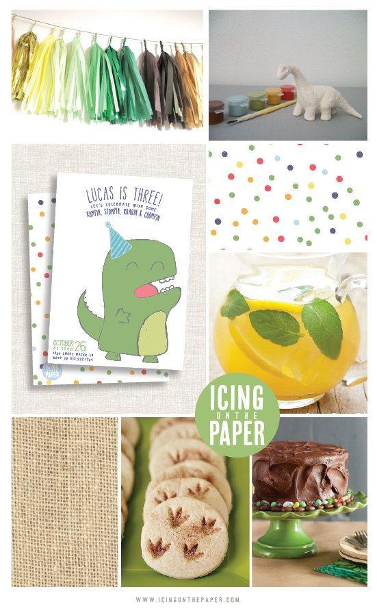 Dinosaur Birthday Dinosaur Party Dinosaur by icingonthepaper, $7.75