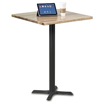 Rustico Solid Wood Top Bar Height Table | National Business Furniture