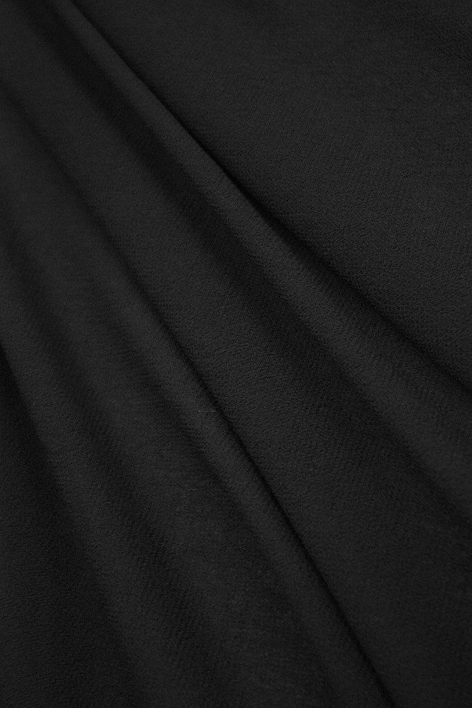 Black Japanese light weight 100% Wool Crepe. Width:144cm Note: if washing this wool cre...
