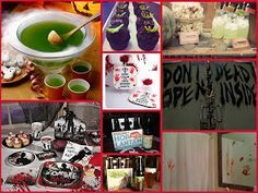 The Walking Dead Premiere Party. TWD party menu and decor ideas.