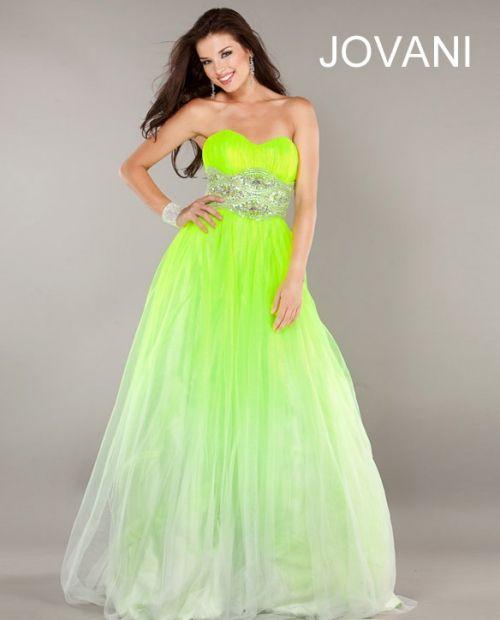 prom dresses 2013 | Elegant Lime Green Prom Dresses Jovani 2013
