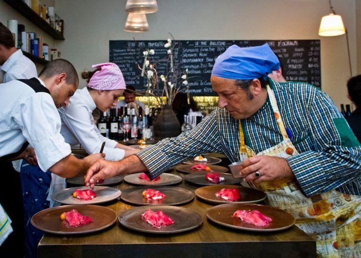 Ristorante Settembrini - Roma - Chef Carmelo Chiaramonte -  Piatti: L' arte nel pozzo - settembre 2013