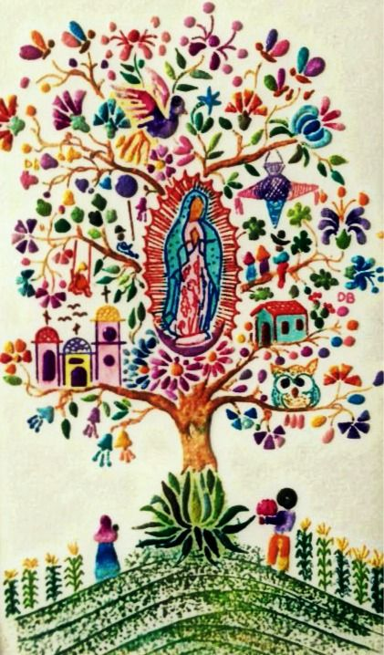 La Vírgen de Guadalupe~cross stitch art