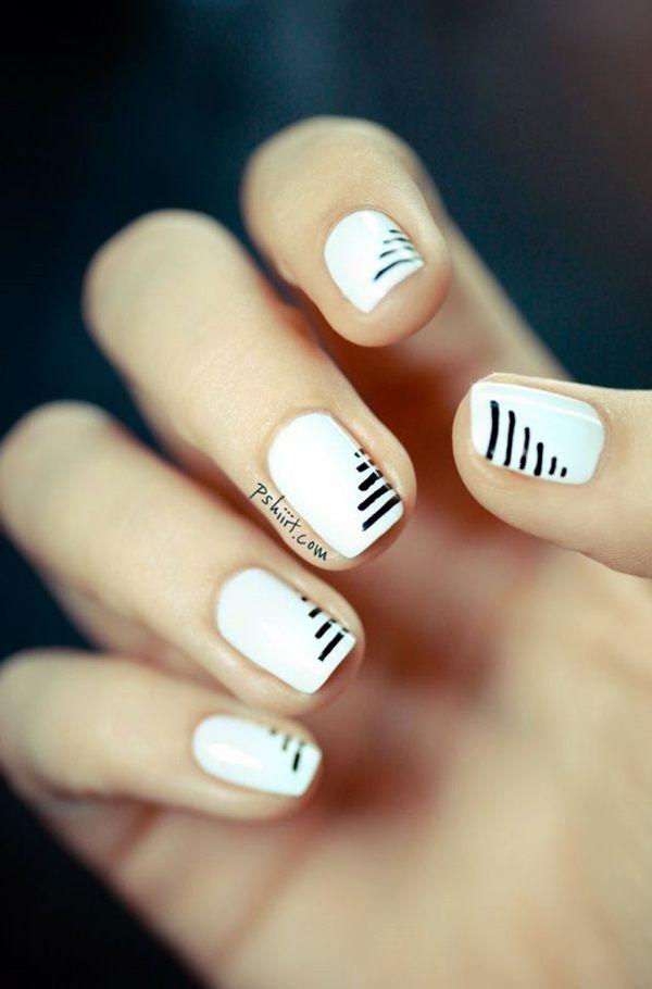 White Nails art Designs (12)