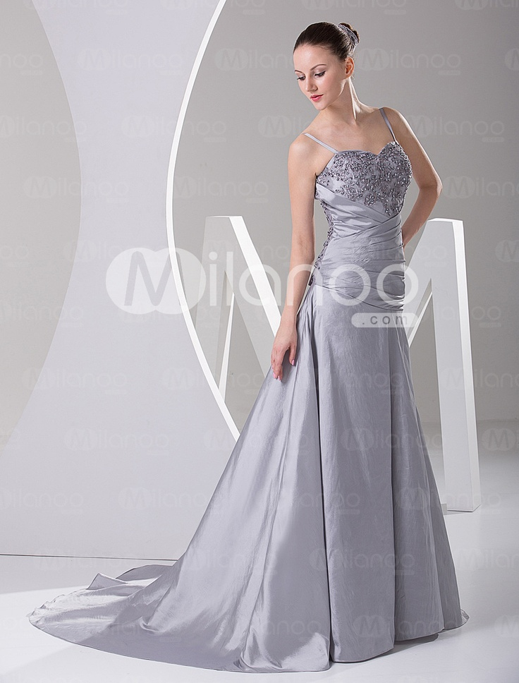 1000 images about pretty wedding stuff on pinterest for Silver satin wedding dress