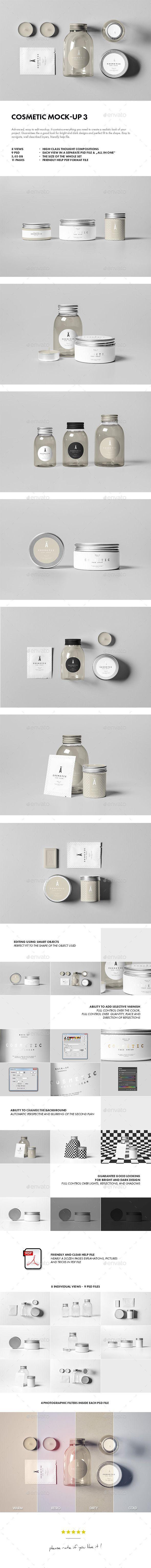 Cosmetic Mock-up #design Download: http://graphicriver.net/item/cosmetic-mockup-3/11680258?ref=ksioks Más
