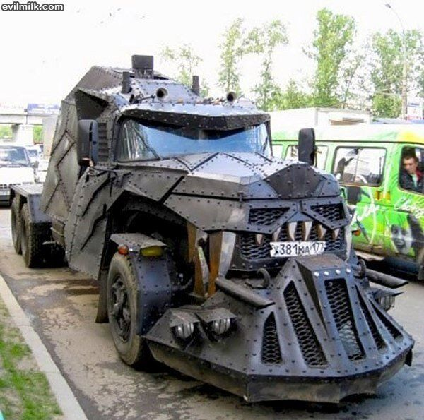 This thing! Best car for people who really think that this will save them from the end of the world