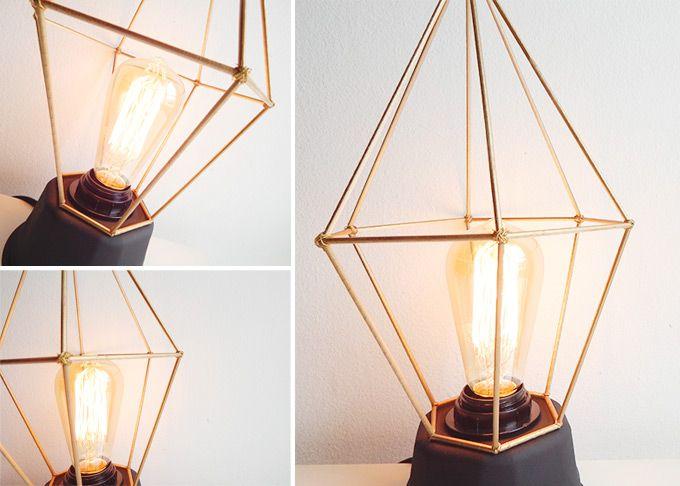 geometricaDiyForma mesa y lampara de diy hexagonal nw0P8kO