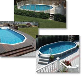 Semi-Inground Pools: Pool Ideas, House Ideas, Style, In Ground Pools, Semi Inground Pools, Pool Decks