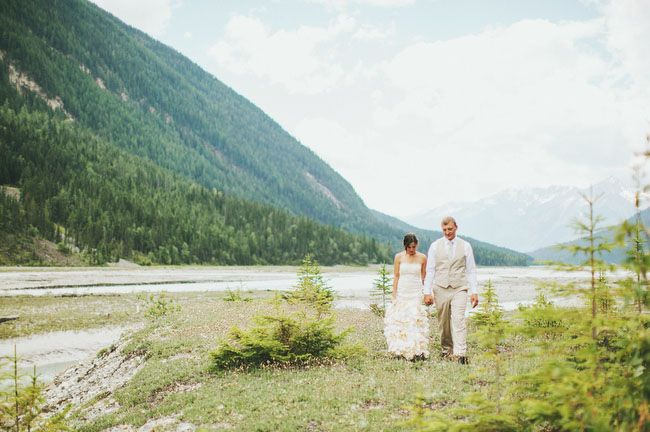 Canadian Mountain Elopement: Adina + Lukasz For those of you considering an elopement, this may just convince you it's a great idea: with the money Adina + Lukasz saved by choosing an elopement over a wedding, they were able to take an entire month to slowly travel the country on the road trip of a lifetime. Sounds pretty amazing, right?! Here's a bit more about the day from their talented photographer, Brittany Esther: