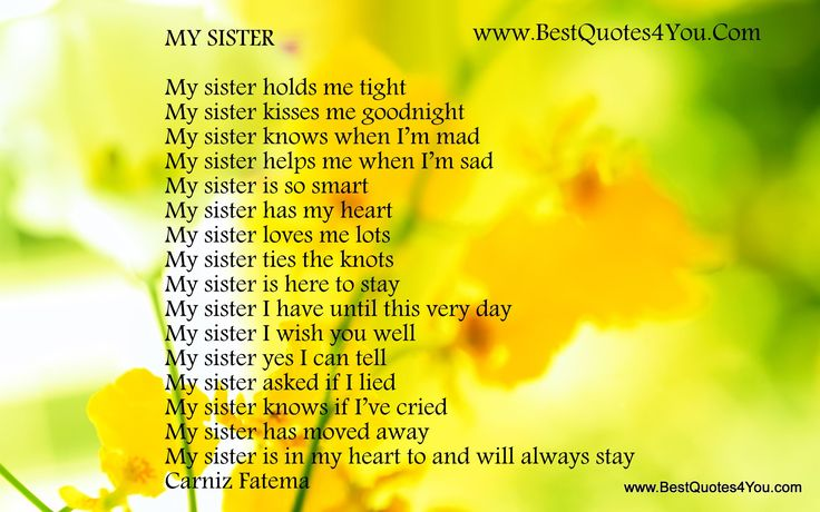 sister quotes | Image Description of I Love My Sister Quotes