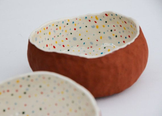 Terracotta serving bowl von Baskakova auf Etsy