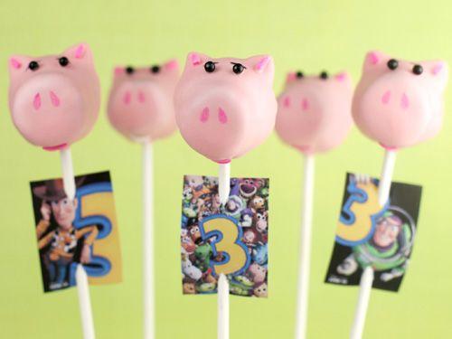 hamm cake pops #kids #party #toystory