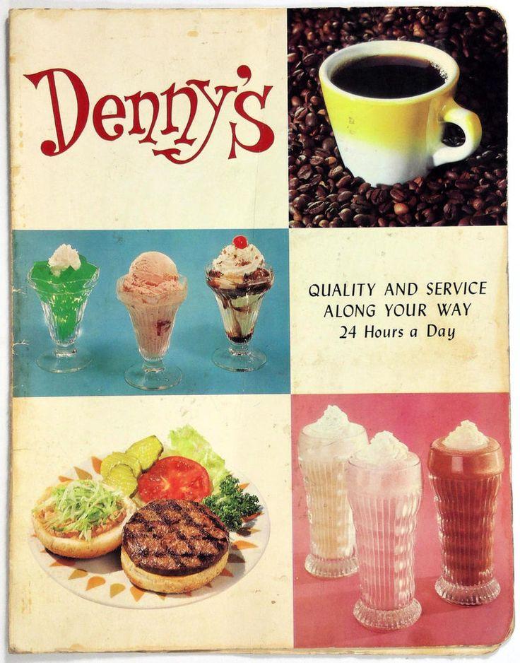 1967 Old Vintage Full Size Breakfast & Dinner Menu DENNY'S RESTAURANTS