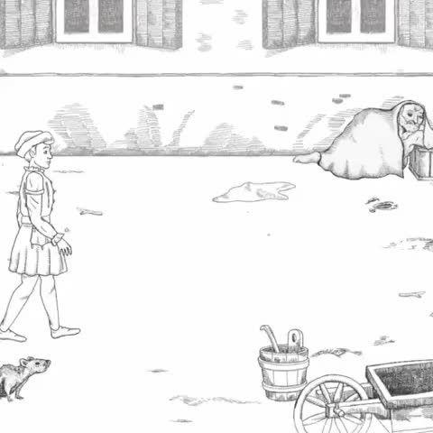 Animation: Konrad spaziert