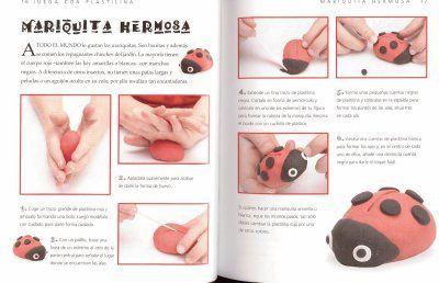 Modelar plastilina - mariquita