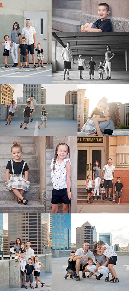 Urban family photoshoot. Rooftop photography. Utah family photography. Downtown photo sessions.
