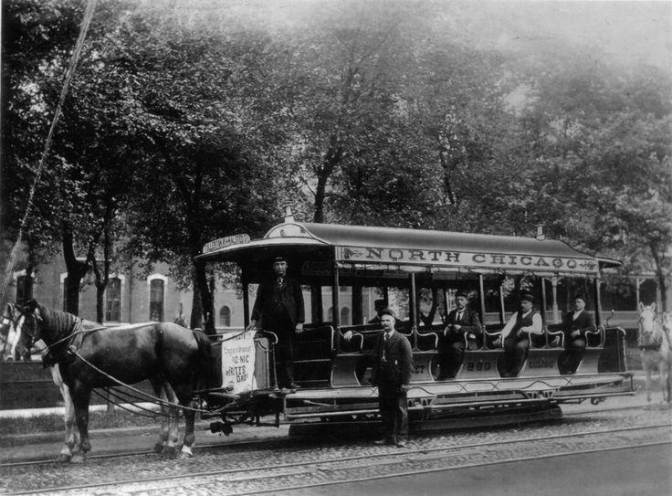 Chicago Transit Authority /CTA North Chicago Street Railway -1870s Clark Street