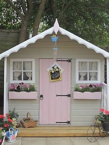 Paint ideas for the playhouse wendy houses pinterest for Wooden wendy house ideas