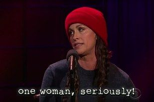 "Ten thousand male late-night hosts… | Alanis Morissette Updated The ""Ironic"" Lyrics With Modern Struggles And It's Hilarious"