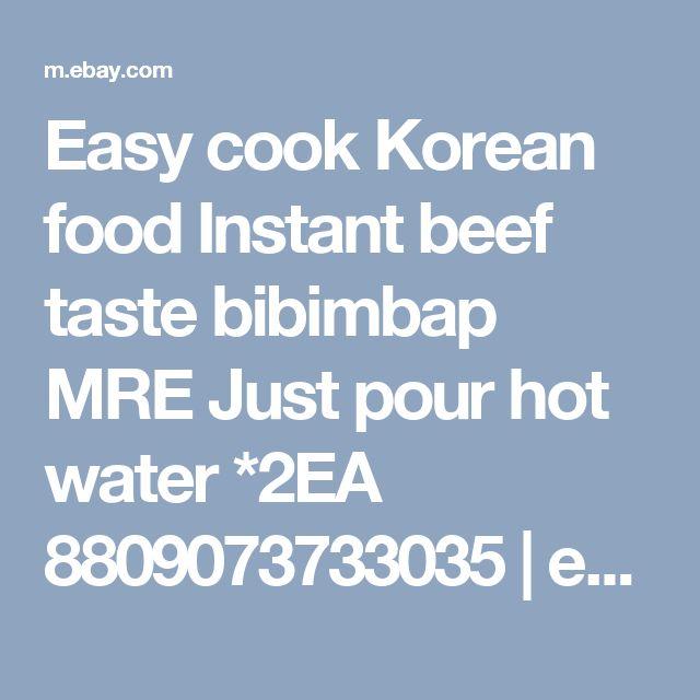 Easy cook Korean food Instant beef taste bibimbap MRE Just pour hot water *2EA 8809073733035 | eBay