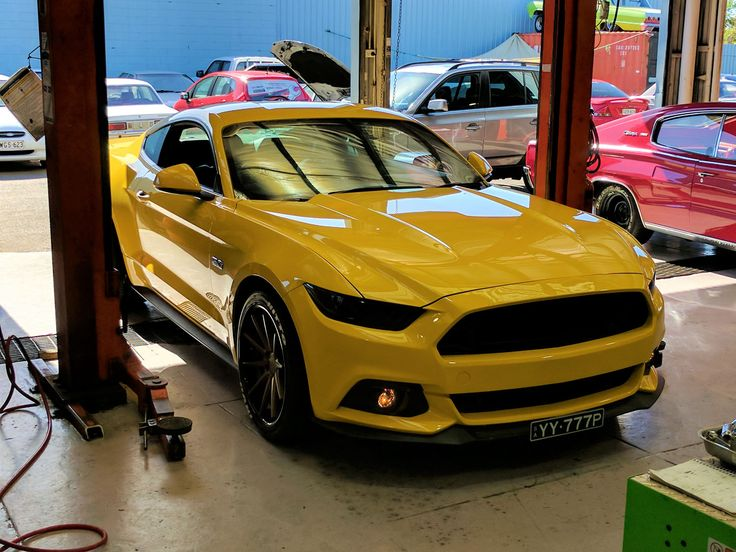 Eastside Mustang Enhancement without GT stripes.