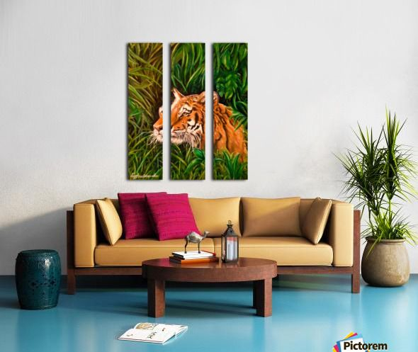 Tiger mania, Tiger obsession, Tiger addiction,  art, painting, in panels