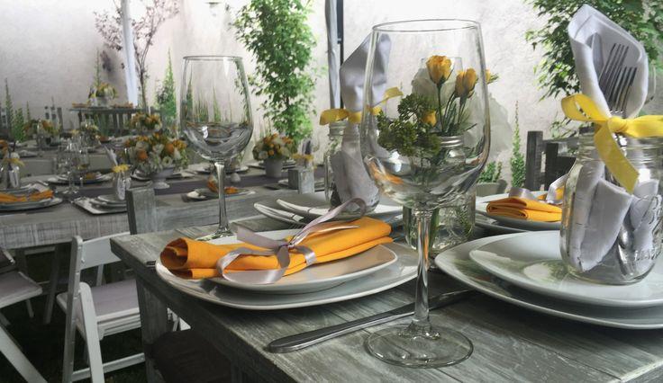 decoración cumpleaños, amarillos y gris  birthday decoration , yellow and gray
