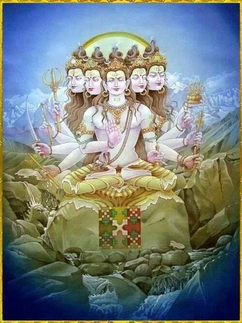 The Five Aspects of Shiva - Ishana, Tatpurusa, Aghora, Vamadeva and Sadyojata