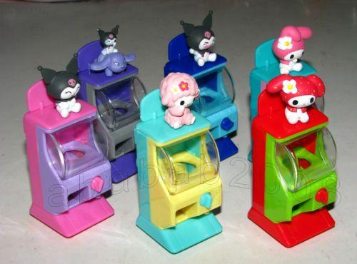 RARE Yujin Sanrio My Melody Toy Capsule Vending Machine Mini Figure Set of Six | eBay