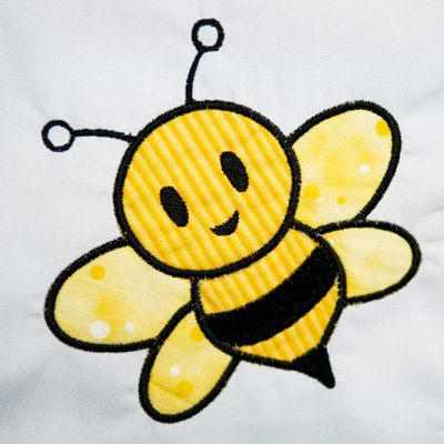 Bumble Bee Applique Machine Embroidery Pattern by appleberryapps, $3.00