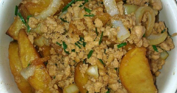 Resep Minced Chicken Oyster Sauce With Potato Oleh Maplesong Resep Memasak Makanan Dan Minuman Saus