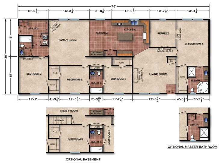 384 best my 6 year plan images on pinterest mobile for Modular homes with basement floor plans