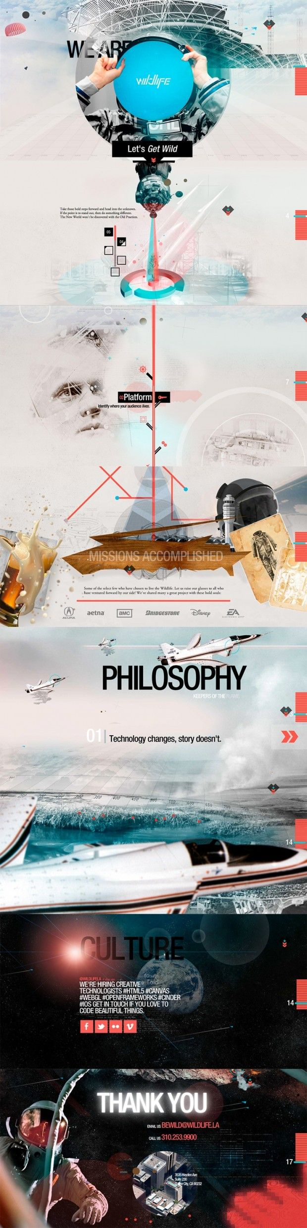 Awesome galactic web design / #graphic