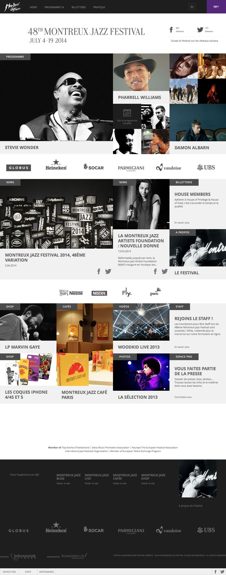 Montreux Jazz Festival #webdesign #inspiration - Follow my webdesign board on Pinterest: http://lvn.io/cscwebdesign
