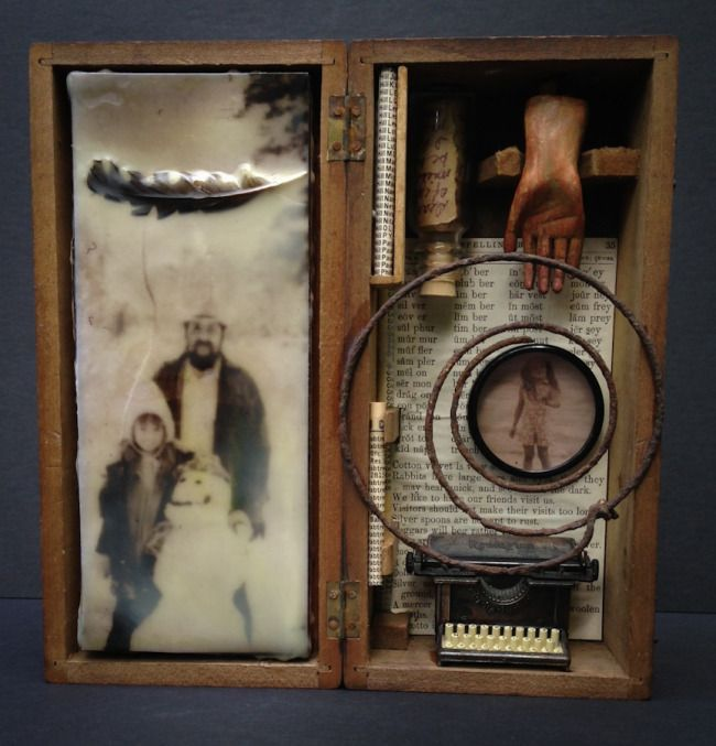 'Through the wee hours' assemblage — Lori Vrba