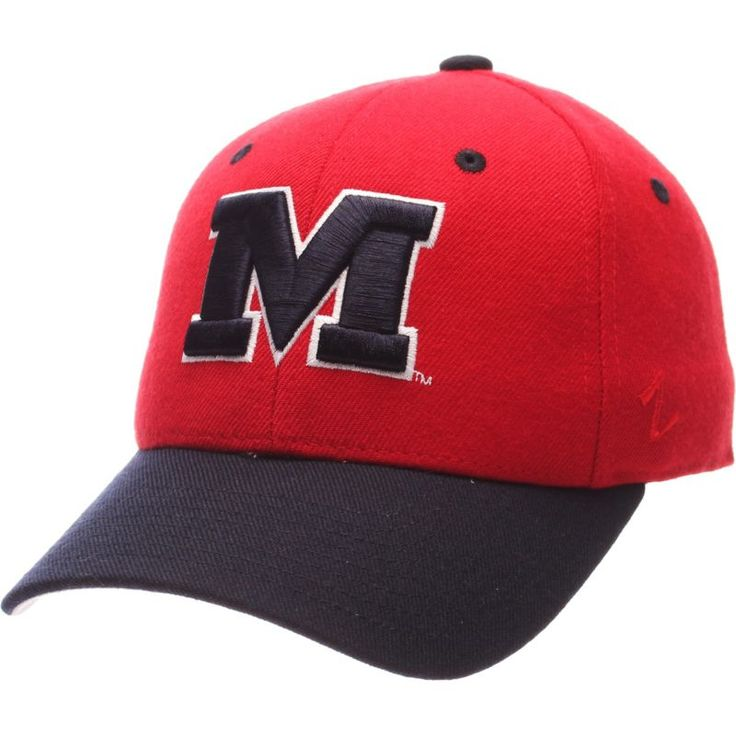 Zephyr Men's Ole Miss Rebels Red DH Fitted Hat, Size: 7 1/4, Team