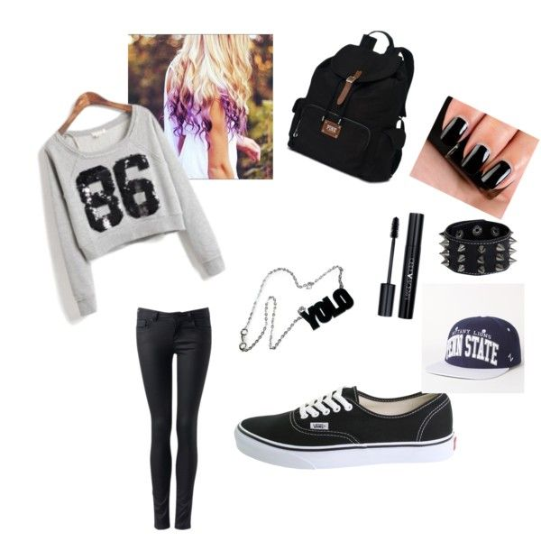 Teen Swag by xxiloveyouhxx on Polyvore featuring Forever New, Vans, Victoria's Secret, Boohoo, Zephyr, Diego Dalla Palma and NARS Cosmetics