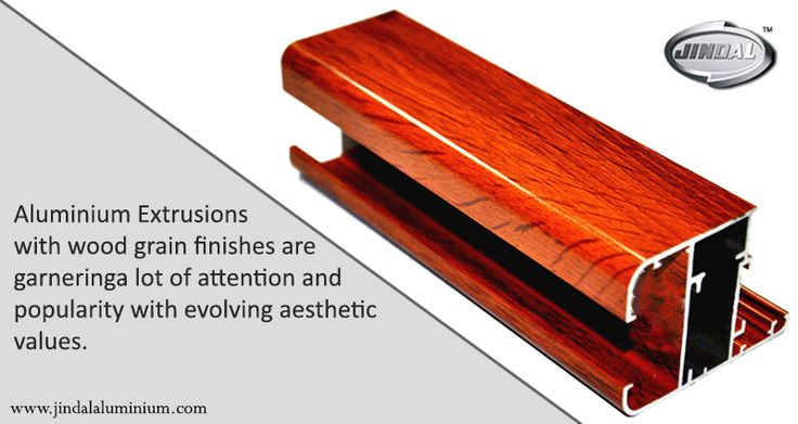 Aluminium Extrusions with wood grain finishes are garnering a lot of attention and popularity with evolving aesthetic values.  We are happy to announce that we now supply wood coating finishes that are of international decoral quality for our aluminium extrusions on a global scale! #JAL #WoodFinishALuminiumExtrusions