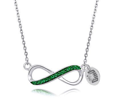 Ohio University Bobcats Crystal Infinity Necklace