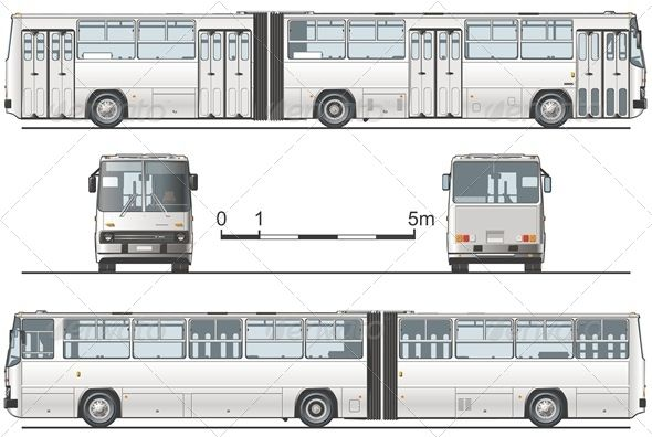 GraphicRiver Vector Articulated Public Bus 2533174