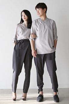 SAPOK charcoal slacks - 리슬