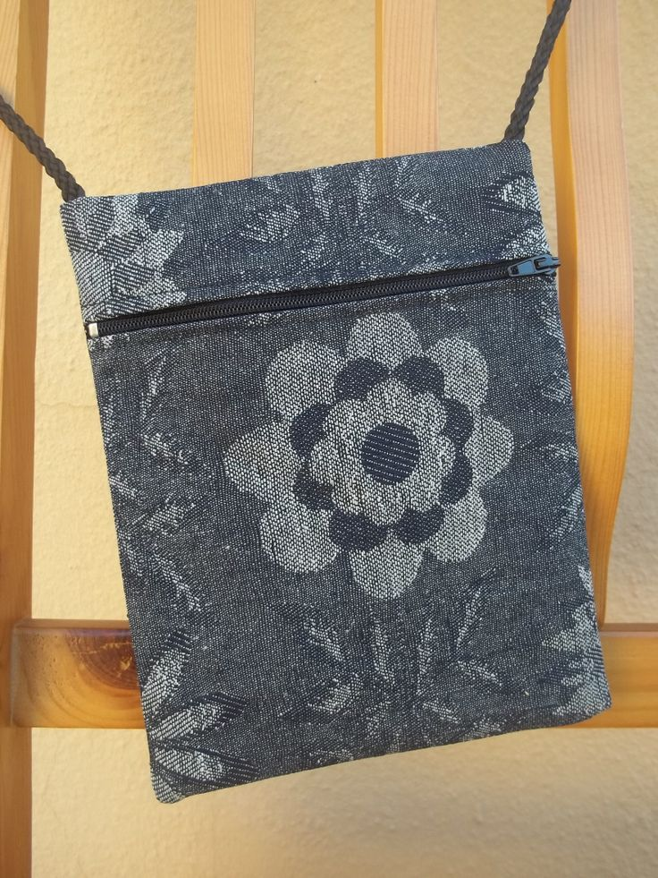 Small bag with zip. Made 2 already. Hope to make many more, they're so beautiful.