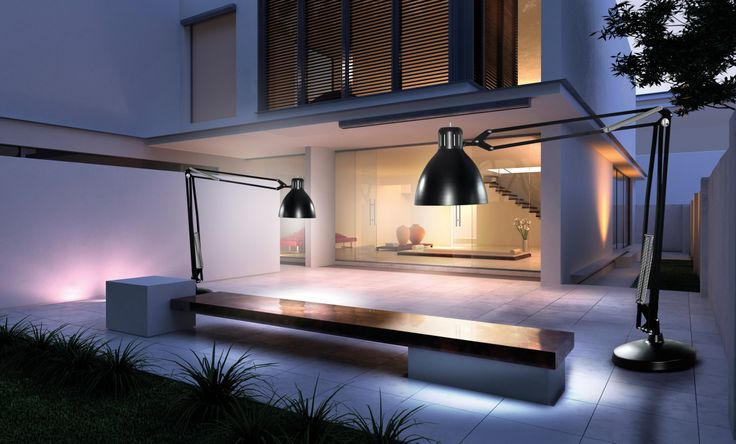The Great JJ Outdoor lamp in a fantastic modern environment - looking absolute fantastic. www.light-point.dk