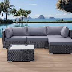 best 25+ polyrattan lounge set ideas on pinterest, Garten und bauen